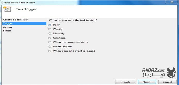 زمانبندی خالی کردن اتوماتیک سطل زباله ویندوز