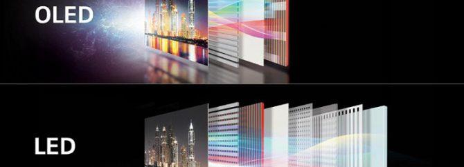 تفاوت های تلویزیون های LED و OLED