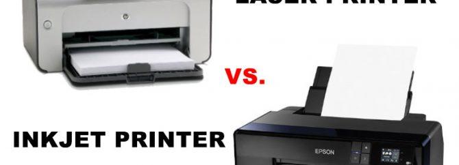 تفاوت های عمده پرینتر جوهرافشان و لیزری