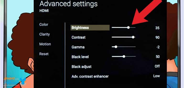 روشنایی یا Brightness