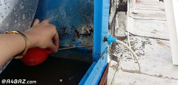 تخلیه آب کولر آبی در زمستان