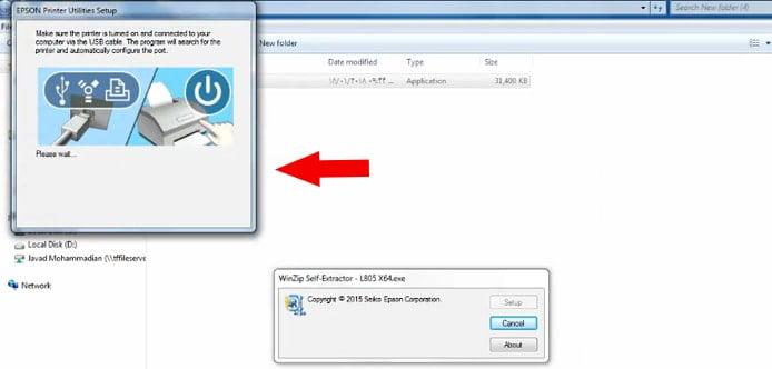 نصب درایور و راه اندازی چاپگر اپسون l805