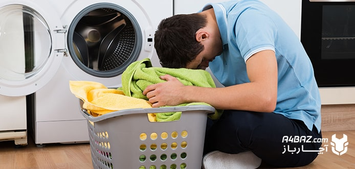 ماشین لباسشویی هنگام شستشو حرکت می کند