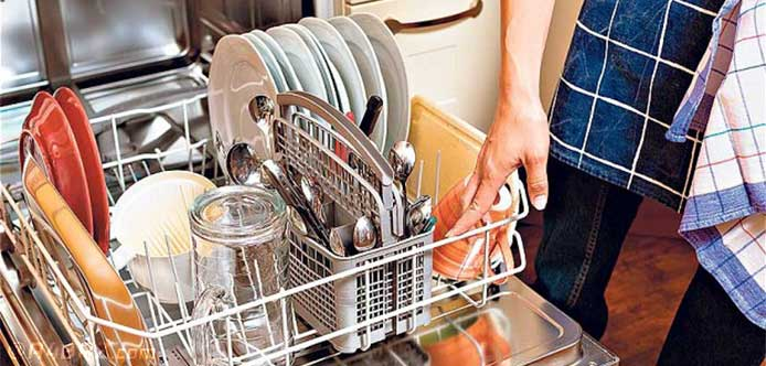 استفاده از ماشین ظرفشویی