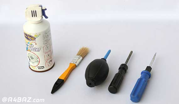 تمیز کردن قطعات داخلی کیس
