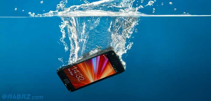 خیس شدن گوشی موبایل