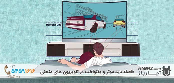 فاصله دید موثر در تلویزیون منحنی