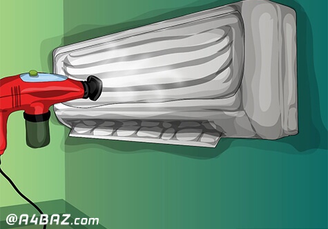 نحوهی تمیز کردن کولر گازی