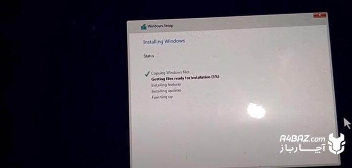 مرحله بیستم نصب سیستم عامل ویندوز روی تبلت