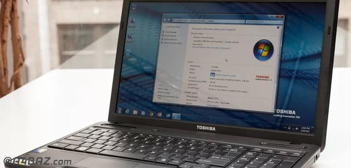 مشکلات نرم افزاری لپ تاپ توشیبا