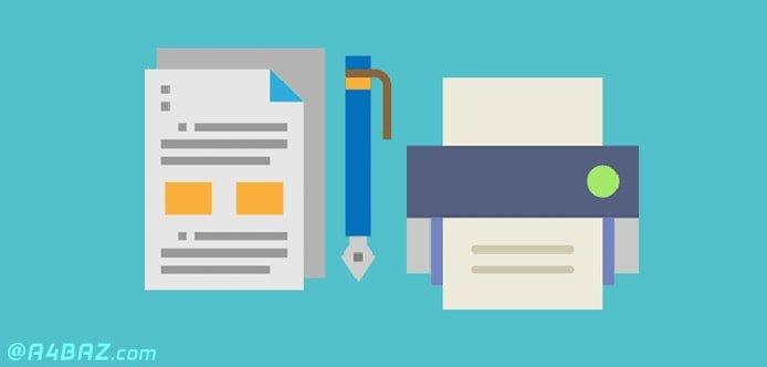 اضافه کردن سایز کاغذ به صورت دستی در تنظیمات چاپ