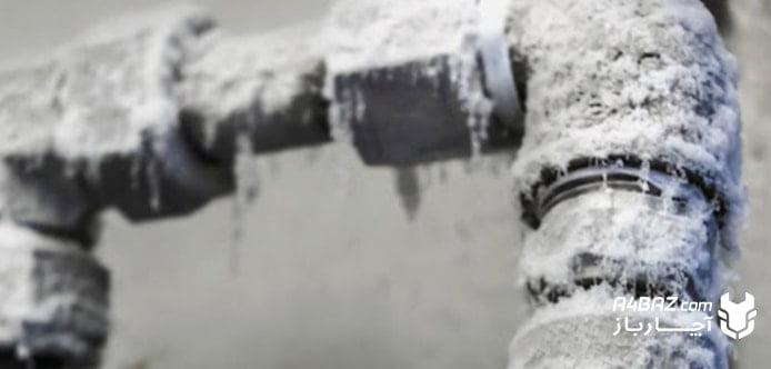 یخ زدن آبگرمکن دیواری