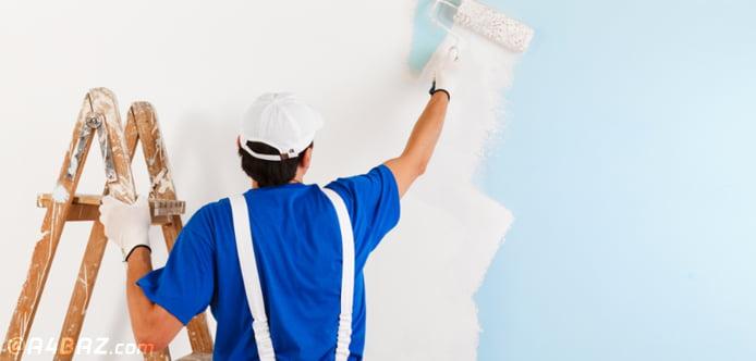 اقدامات اولیه برای رنگ آمیزی خانه