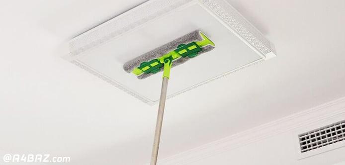 تمیزکردن سقف آشپزخانه کثیف