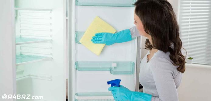 تمیز کردن یخچال و فریز