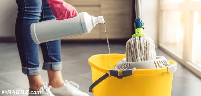 تمیز کردن سرامیک کف