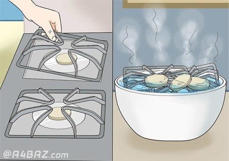 شستن شبکه های اجاق گاز