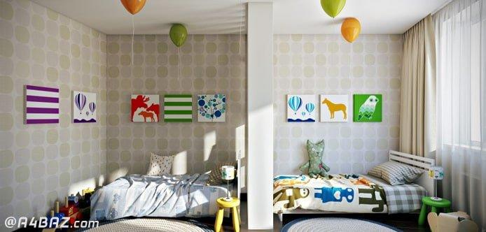 نقاشی اتاق خواب کودک