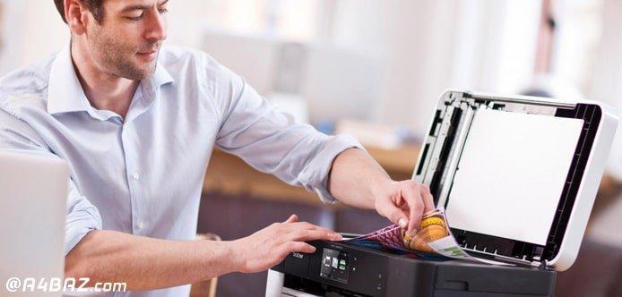 چاپگر سفید چاپ میکند