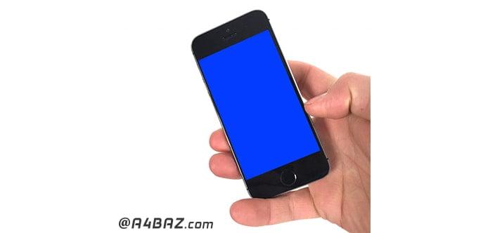 آبی شدن صفحه گوشی آیفون