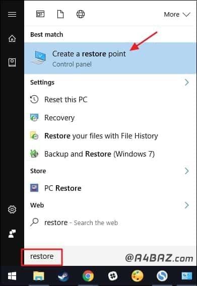 برنامه System Restore