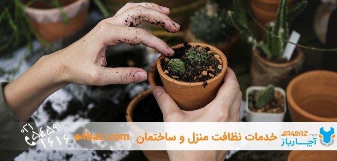 باغبانی کردن جزء نظافت منزل قرار دهید