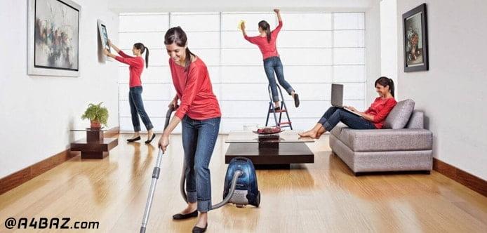 تمیزی کاری منزل بدون خستگی