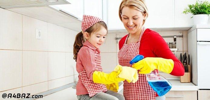 لیست روزانه منزل؛ تمیزی کابینت آشپزخانه