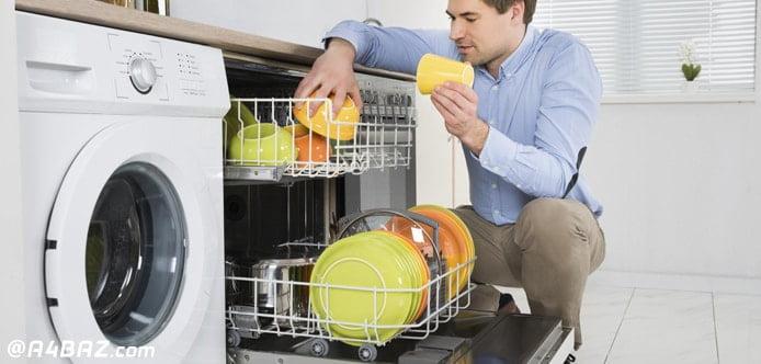 رفع بوی ماشین ظرف شویی