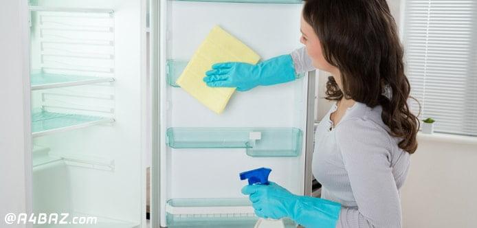 شستن و تمیز کردن یخچال