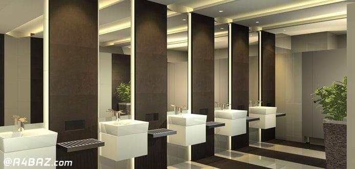 شستن در وو دیوارهای محیط کار