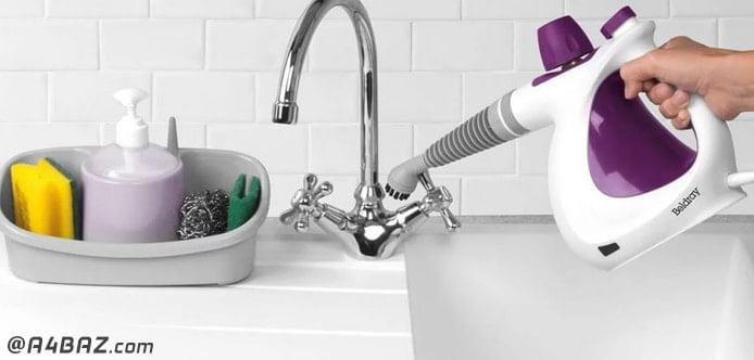 شستن شیرآلات با بخارشوی