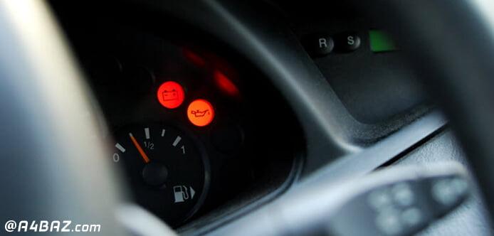 علت روشن شدن چراغ روغن خودرو