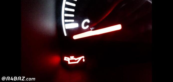 علت روشن شدن چراغ روغن خودرو تیبا