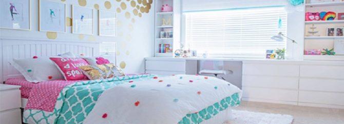 راهکار ساده و سریع برای مرتب کردن اتاق خواب دخترانه