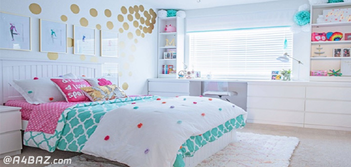 مرتب کردن اتاق خواب دخترانه