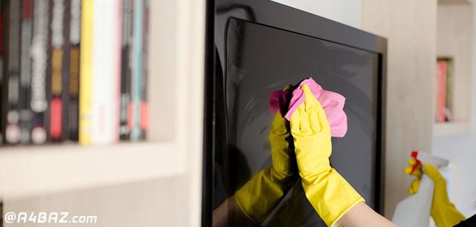 تمیز کردن ال سی دی تلویزیون