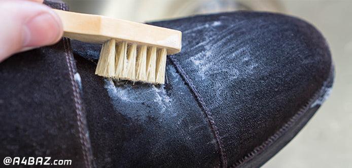 تمیز کردن کفش سفید با خمیر دندان