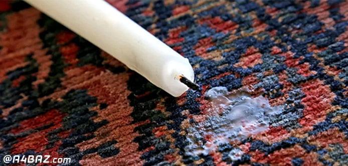 پاک کردن شمع از روی لباس
