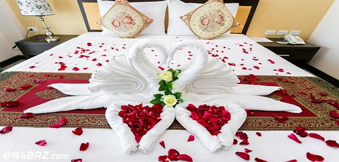تزئیین اتاق خواب عروس و داماد