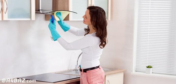 از بین بردن چربی هود آشپزخانه