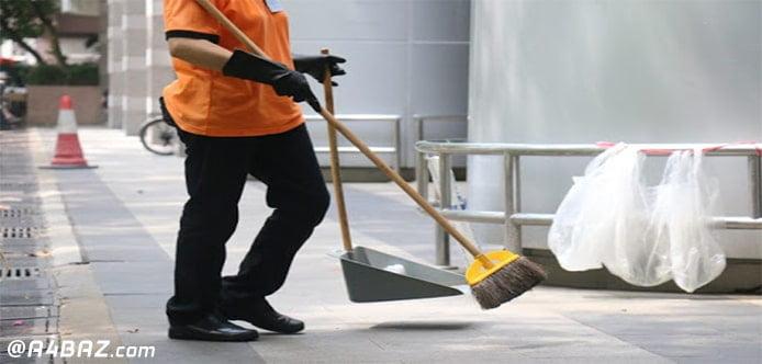 نظافت راه پله و پارکینگ