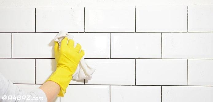 برق انداختن دیوار حمام