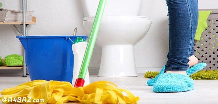 تمیز کردن کف دستشویی