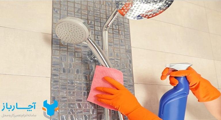 تمیز کردن دوش حمام