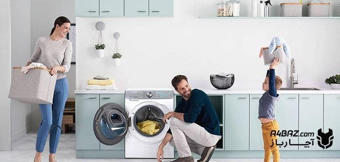 علت کند چرخیدن ماشین لباسشویی