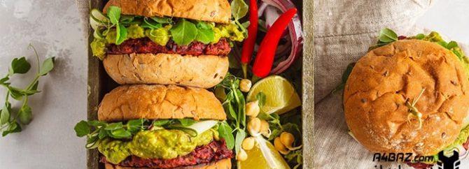 طرز تهیه برگر گیاهی، غذایی بی نظیر با طعمی دلپذیر!