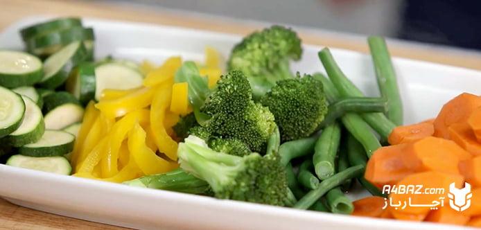 پخت سبزیجات با بخارپز