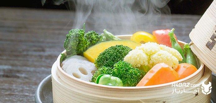 چگونگی پختن سبزیجات با بخارپز