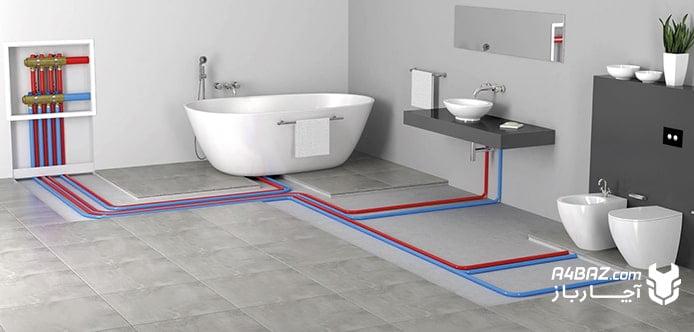 سیستم گرمایش از کف در حمام